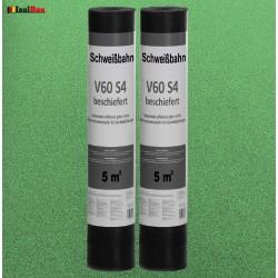 Schweißbahn V60 S4 Glasvlieseinlage beschiefert GRÜN 5m² DachPappe Bitumenbahn.