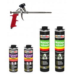 SET Pistolenschaum 2 x 750 ml + 1 Metall Schaumpistole + 2 Reiniger Bauschaum