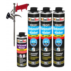 Dämmstoffkleber 3x750 ml + 1 Metall Schaumpistole + 1 PU Reiniger hohe Qualität