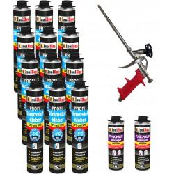 Dämmstoffkleber 12x750 ml + 1 Metall Schaumpistole + 2 PU Reiniger hohe Qualität