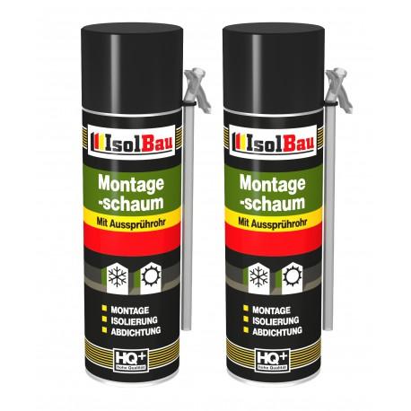 Isolbau Montageschaum 1 Dose 500 ml Bauschaum 1K PU Schaum mit Aussprührohr