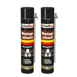 Isolbau Montageschaum 2 Dose 750 ml Bauschaum 1K PU Schaum mit Aussprührohr HQ+