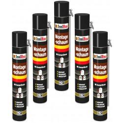 Isolbau Montageschaum 5 Dose 750 ml Bauschaum 1K PU Schaum mit Aussprührohr HQ+