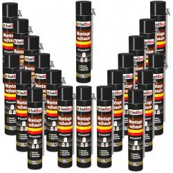 Isolbau Montageschaum 20 Dose 750 ml Bauschaum 1K PU Schaum mit Aussprührohr HQ+
