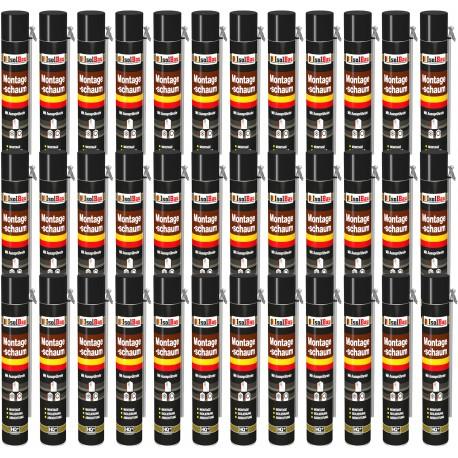 Isolbau Montageschaum 1 Dose 750 ml Bauschaum 1K PU Schaum mit Aussprührohr HQ+