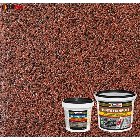 Mosaikputz Buntsteinputz BP 80 (rotbraun, schwarz) 5 kg Fertigputz Sockelputz