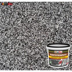 Mosaikputz Buntsteinputz BP 30 (rotbraun, schwarz) 10 kg Fertigputz Sockelputz