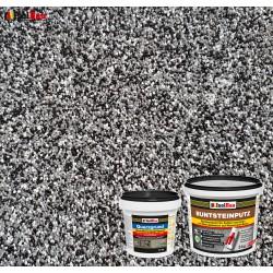 Mosaikputz Buntsteinputz BP 30 (schwarz, grau, weiss) 5 kg Fertigputz Sockelputz + Quarzgrund 1,5 kg
