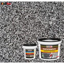 Mosaikputz Buntsteinputz BP 30 (schwarz, grau, weiss) 15 kg Fertigputz Sockelputz + Quarzgrund 1,5 kg