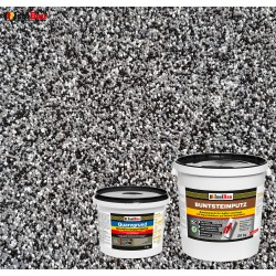Mosaikputz Buntsteinputz BP 30 (schwarz, grau, weiss) 20 kg Fertigputz Sockelputz + Quarzgrund 4 kg