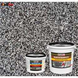 Mosaikputz Buntsteinputz BP 30 (schwarz, grau, weiss) 25 kg Fertigputz Sockelputz + Quarzgrund 4 kg