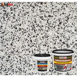 Mosaikputz Buntsteinputz BP 10 (weiss, grau, schwarz) 5 kg Fertigputz Sockelputz + Quarzgrund 1,5 kg