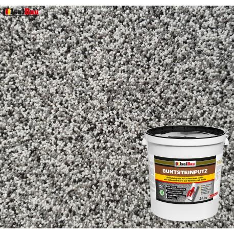 Mosaikputz Buntsteinputz BP 20 (grau, weiss, schwarz) 25 kg Fertigputz Sockelputz