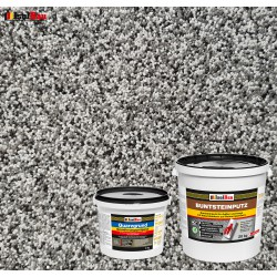 Mosaikputz Buntsteinputz BP 20 (grau, weiss, schwarz) 20 kg Fertigputz Sockelputz + Quarzgrund 4 kg