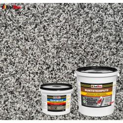 Mosaikputz Buntsteinputz BP 20 (grau, weiss, schwarz) 25 kg Fertigputz Sockelputz + Quarzgrund 4 kg