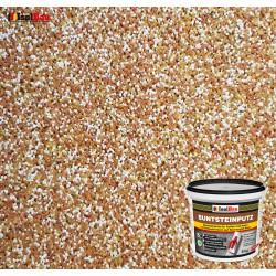 Mosaikputz Buntsteinputz BP 40 (braun, weiss, gelb) 5 kg Fertigputz Sockelputz