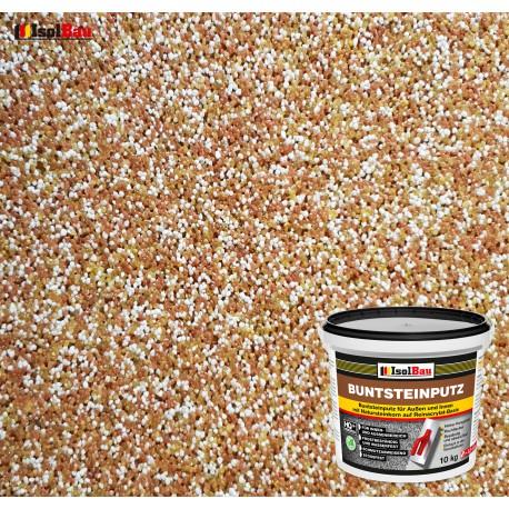 Mosaikputz Buntsteinputz BP 40 (braun, weiss, gelb) 10 kg Fertigputz Sockelputz