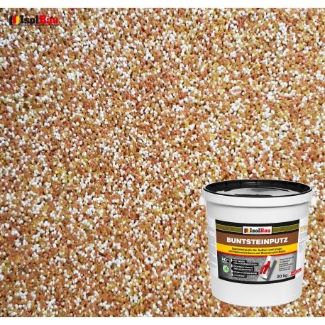 Mosaikputz Buntsteinputz BP 40 (braun, weiss, gelb) 20 kg Fertigputz Sockelputz