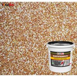 Mosaikputz Buntsteinputz BP 40 (braun, weiss, gelb) 25 kg Fertigputz Sockelputz