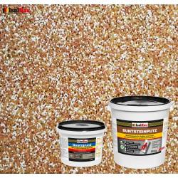 Mosaikputz Buntsteinputz BP 40 (braun, weiss, gelb) 25 kg Fertigputz Sockelputz + Quarzgrund 4 kg