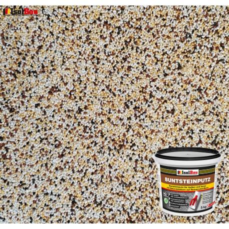 Mosaikputz Buntsteinputz BP 50 (weiss,gelb,braun, schwarz) 5 kg Fertigputz Sockelputz