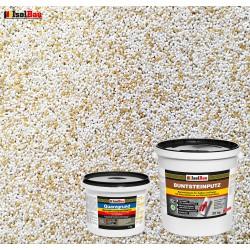 Mosaikputz Buntsteinputz BP 60 (weiss, sand/gelb) 20 kg Fertigputz Sockelputz + Quarzgrund 4 kg