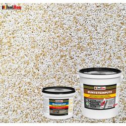 Mosaikputz Buntsteinputz BP 60 (weiss, sand/gelb) 25 kg Fertigputz Sockelputz + Quarzgrund 4 kg