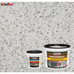 Mosaikputz Buntsteinputz BP 70 (weiss, sand/gelb) 15 kg Fertigputz Sockelputz + Quarzgrund 1,5 kg