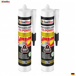 Montagekleber FIX-POWER Baukleber 1x 480g Kartusche weiß Qualität 200kg / 10cm