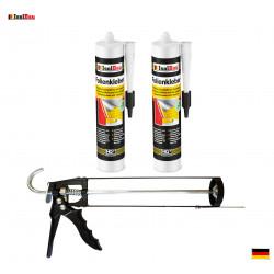 Folienkleber SET Dichtkleber 2 x 450 g + Auspresspistole Dampfbremse Dampfsperre
