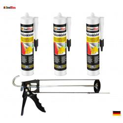 Folienkleber SET Dichtkleber 3 x 450 g + Auspresspistole Dampfbremse Dampfsperre
