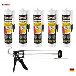 Folienkleber SET Dichtkleber 5 x 450 g + Auspresspistole Dampfbremse Dampfsperre