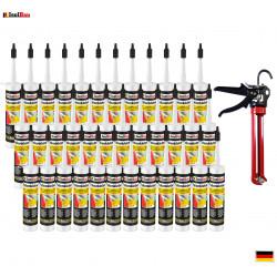 Folienkleber SET Dichtkleber  36 x 450 g + Auspresspistole Dampfbremse Dampfsperre