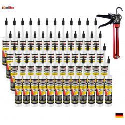 Folienkleber SET Dichtkleber  48 x 450 g + Auspresspistole Dampfbremse Dampfsperre