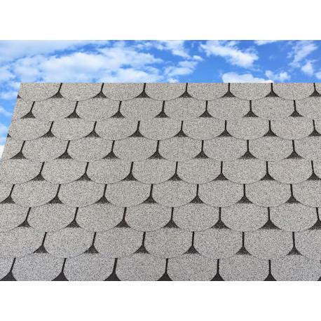 Dachschindeln 1m² Biberschindeln Grau (7 Stk) Schindeln Dachpappe Bitumen