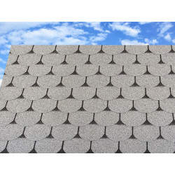 Dachschindeln 12 m² Biberschindeln Grau (4 Pakete) Schindeln Dachpappe Biber
