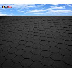 Dachschindeln 1m² Biberschindeln Schwarz (7 Stk) Schindeln Dachpappe Bitumen
