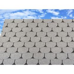 Dachschindeln 15 m² Biberschindeln Grau (4 Pakete) Schindeln Dachpappe Biber