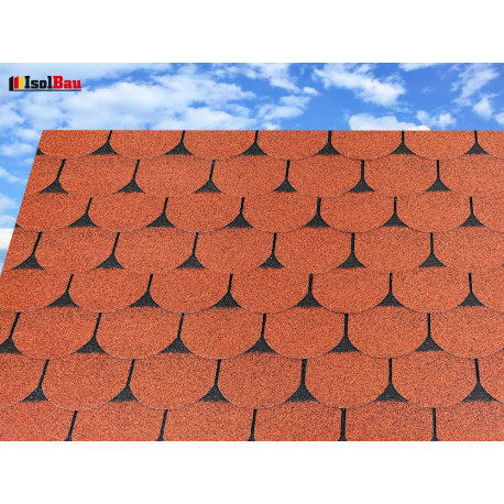 Dachschindeln 27 m² Biberschindeln Ziegelrot (9 Pakete) Schindeln Dachpappe Biber