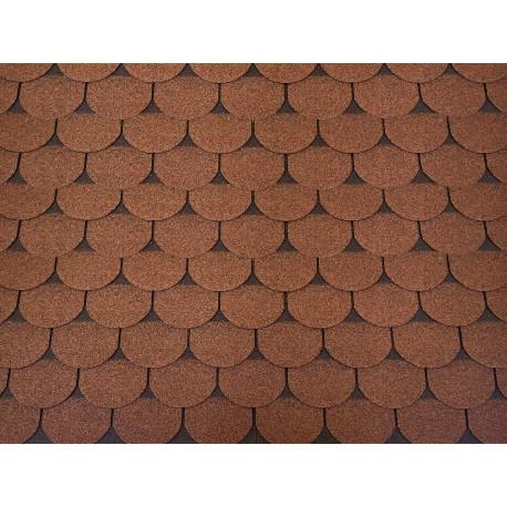 Dachschindeln 1m² Biberschindeln Braun (7 Stk) Schindeln Dachpappe Bitumen