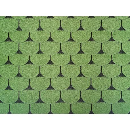 Dachschindeln 1m² Biberschindeln Grün (7 Stk) Schindeln Dachpappe Bitumen