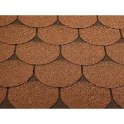 Dachschindeln 2m² Biberschindeln Braun (14 Stk) Schindeln Dachpappe Bitumen