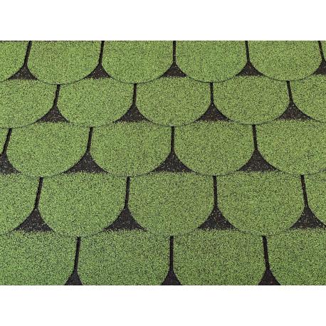 Dachschindeln 6 m² Biberschindeln Grün (2 Pakete) Schindeln Dachpappe Biber