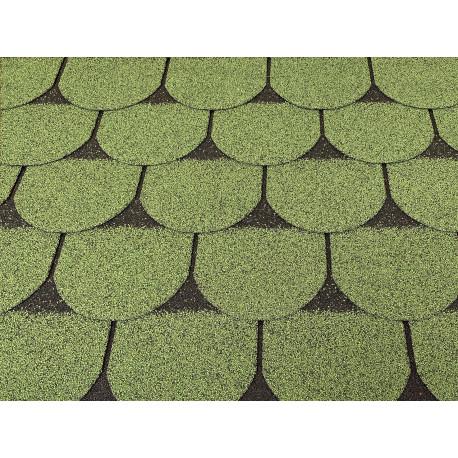 Dachschindeln 15 m² Biberschindeln Grün (5 Pakete) Schindeln Dachpappe Biber