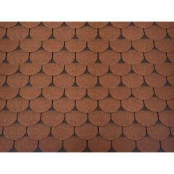 Dachschindeln 21 m² Biberschindeln Braun (7 Pakete) Schindeln Dachpappe Biber