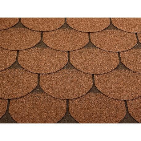 Dachschindeln 30 m² Biberschindeln Braun (10 Pakete) Schindeln Dachpappe Biber