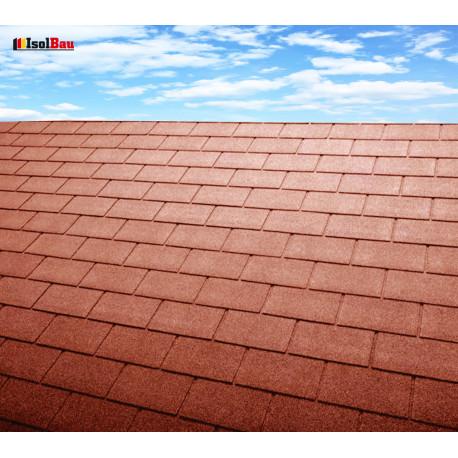 Dachschindeln 1m² Rechteck Form Ziegelrot (7 Stk) Schindeln Dachpappe Bitumen