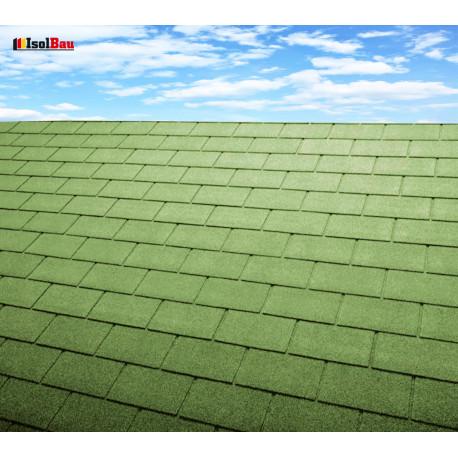 Dachschindeln 1m² Rechteck Form Grün (7 Stk) Schindeln Dachpappe Bitumen