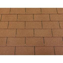 Dachschindeln 2m² Rechteck Form Braun (14 Stk) Schindeln Dachpappe Bitumen