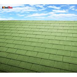 Dachschindeln 9 m² Rechteck Grün (3 Pakete) Schindeln Dachpappe Biber